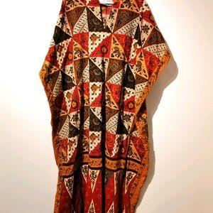 La lingerie 1970s 100% cotton caftan one size